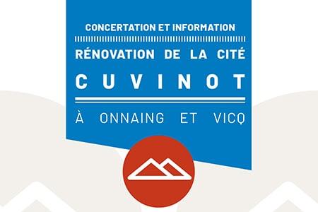 Concertation et information : rénovation de la cité Cuvinot à Onnaing et Vicq